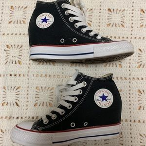 Converse Wedge Sneakers. Size 6